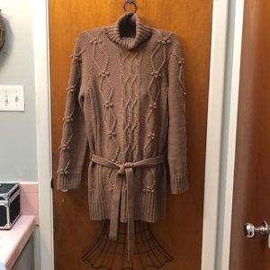 Ann Taylor Loft Belted Sweater